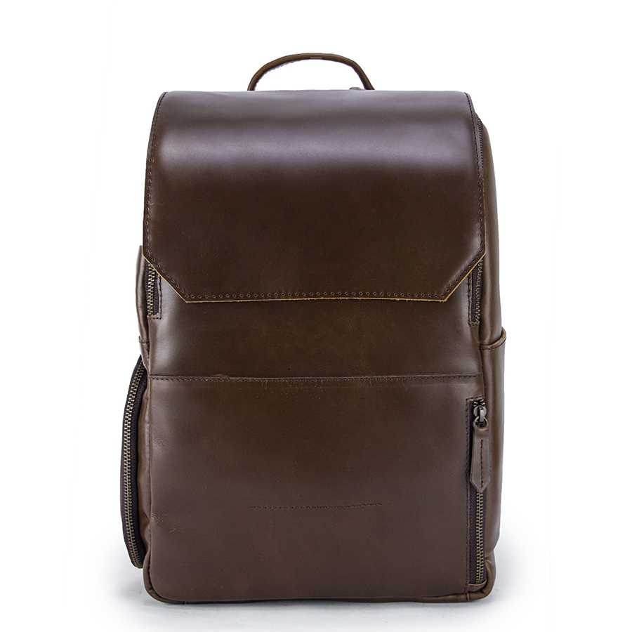 The Minimalist Americano Leather Backpack Front