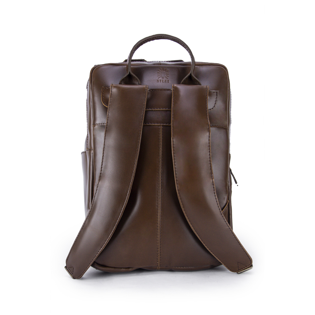 The Minimalist Americano Leather Backpack Straps