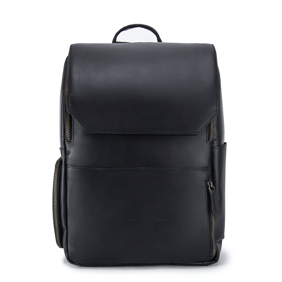 The Minimalist Ink Leather Backpack Front